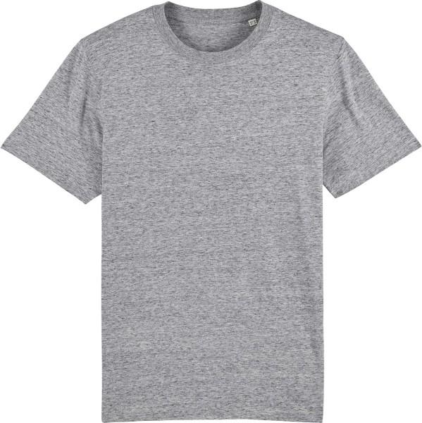T-Shirt aus schwerem Stoff aus Bio-Baumwolle - slub heather grey