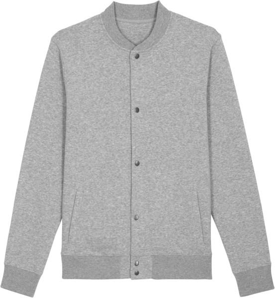 Sweatshirt-Bomberjacke aus Bio-Baumwolle - heather grey