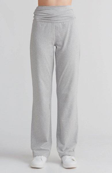 Yogahose aus Bio-Baumwolle - grau-melange