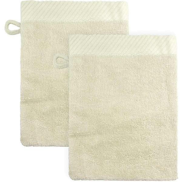 Waschhandschuhe aus Bio-Baumwolle 21x15cm - natur - 2er-Pack