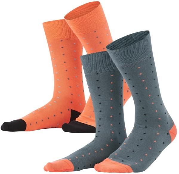 Herren Socken aus Bio-Baumwolle - 2er-Pack - asphalt/pepper