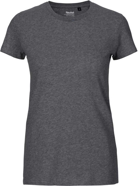 Fitted T-Shirt aus Fairtrade Bio-Baumwolle - dark heather