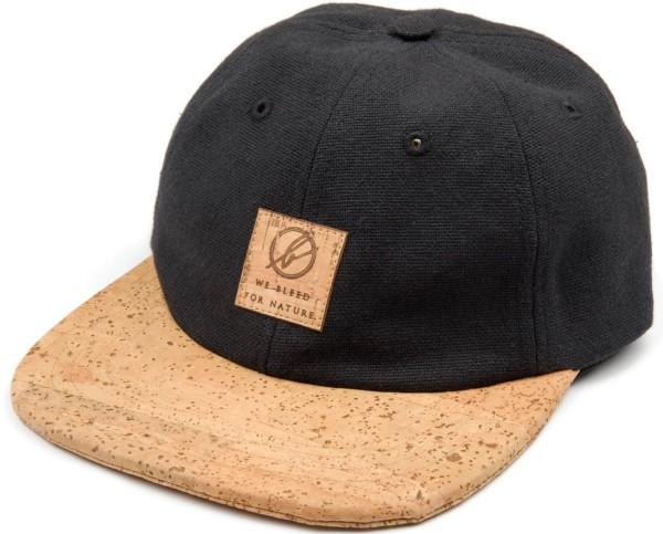 6-Panel Kork Cap - schwarz