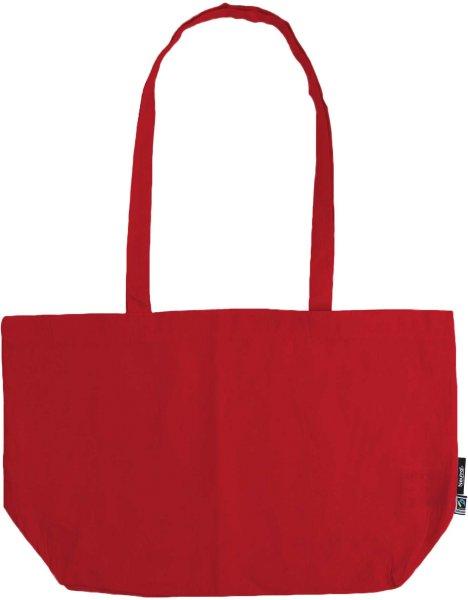 Organic Shopping Bag - breit mit langem Hänkel - Fairtrade rot - Bild 1