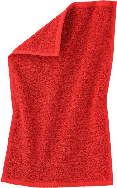 Gäste-Handtuch aus Bio-Baumwolle 30x50 cm - red clay
