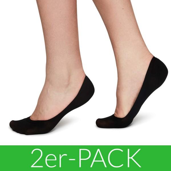 Ida Premium Steps - Füßlinge aus Nilit - 2er-Pack - black