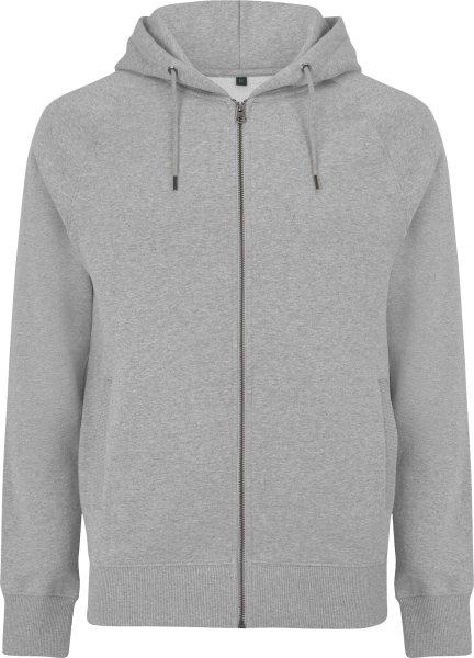 Schwerer Unisex Zip-Up Hoodie aus Biobaumwolle - melange grey