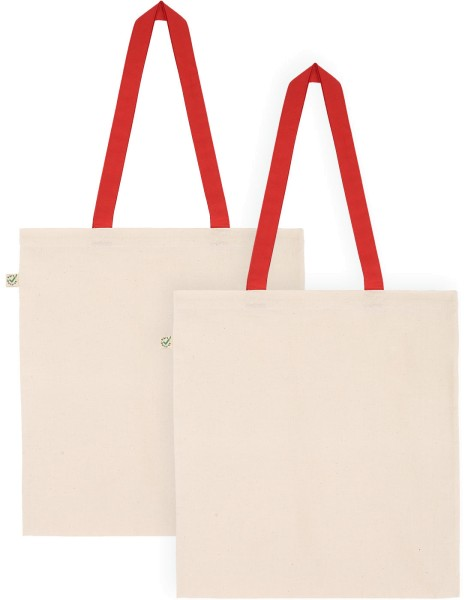 Doppelpack - Organic Cotton Bag - natur-rot