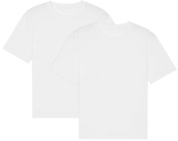 Oversized T-Shirt aus Bio-Baumwolle - white - Doppelpack