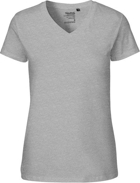 9913c8bbc6682 Graues Damen T-Shirt (V-Neck) aus Bio-Baumwolle | grundstoff.net