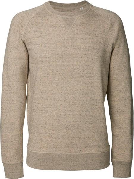 Sweatshirt aus Bio-Baumwolle - slub heather clay