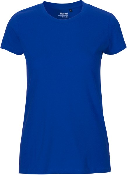 Fitted T-Shirt aus Fairtrade Bio-Baumwolle - royal blue
