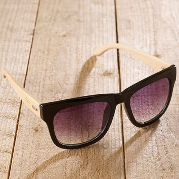 Frascati - Sonnenbrille aus recyl. Kunststoff & Bambus - schwarz - Bild 1