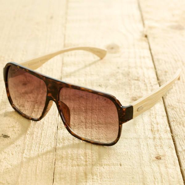 Venice - Sonnenbrille aus recyl. Kunststoff & Bambus - panter - Bild 1