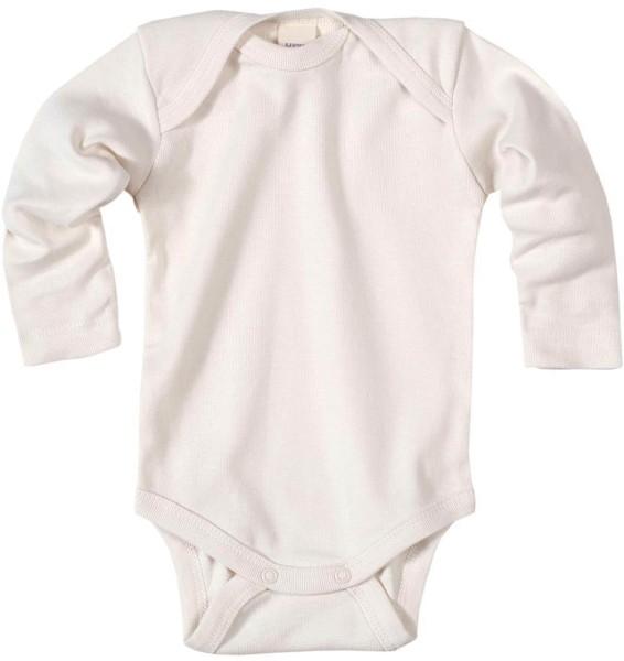 Baby Langarm-Body aus Bio-Baumwolle - natural