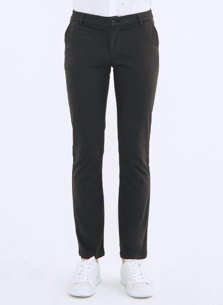 Regular Fit Chino-Hose aus Bio-Baumwolle - black