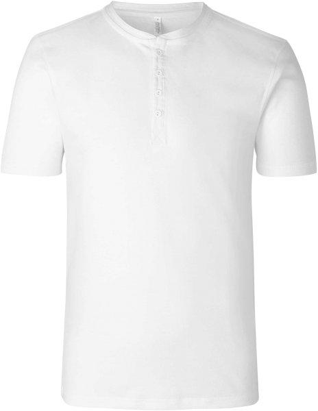 Organic Short Sleeve Granddad T-Shirt Fairtrade weiss