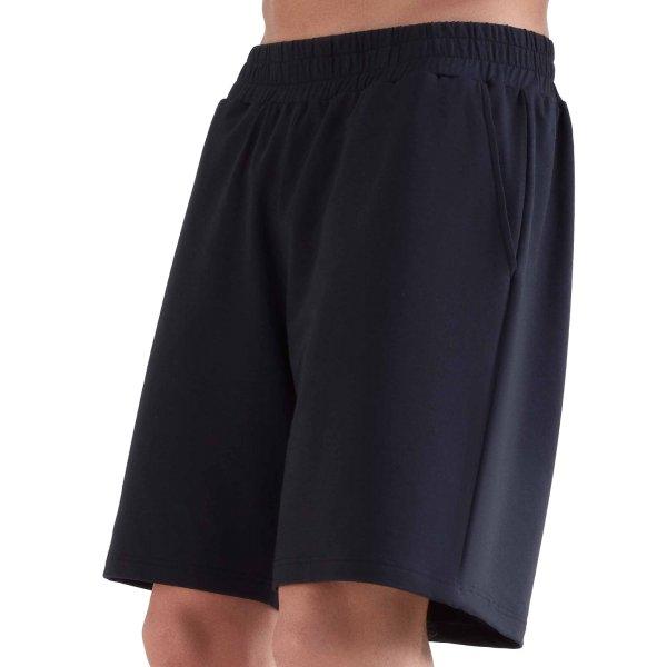 Workout Shorts aus Bio-Baumwolle & Modal - black