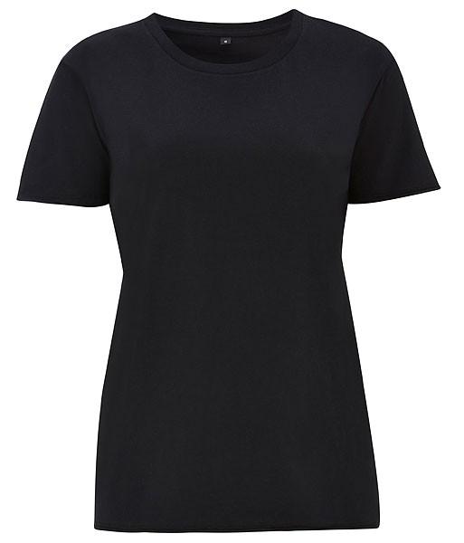 Raw Edge Boyfriend T-Shirt - black - Bild 1