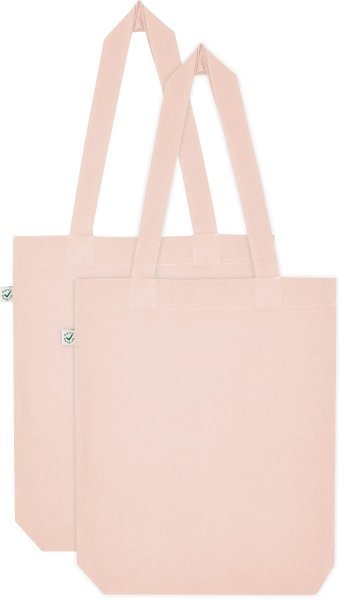 Doppelpack - Organic Cotton Bag - misty pink