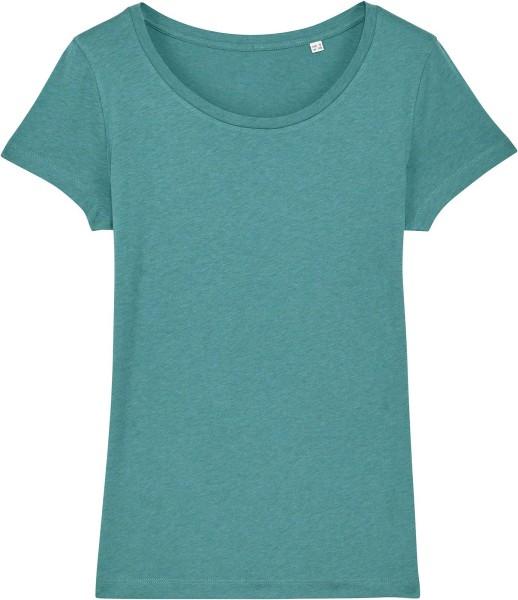 Jersey-Shirt aus Bio-Baumwolle - heather eucalyptus