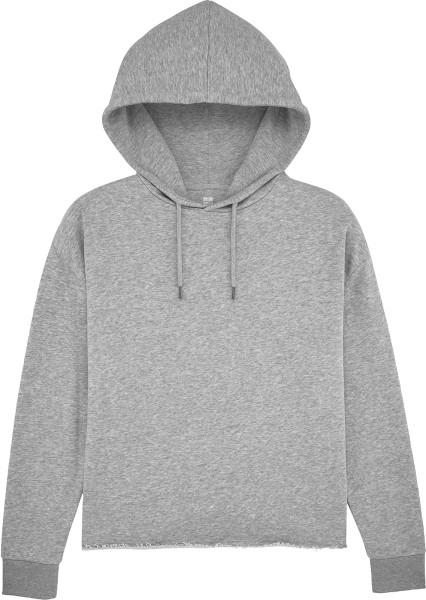 Kurzer Hoodie aus Bio-Baumwolle - heather grey