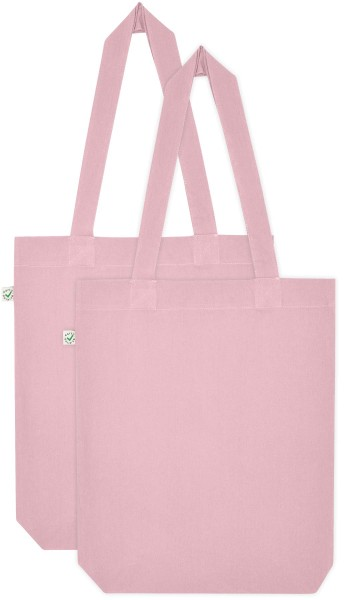 Doppelpack - Organic Cotton Bag - candy pink