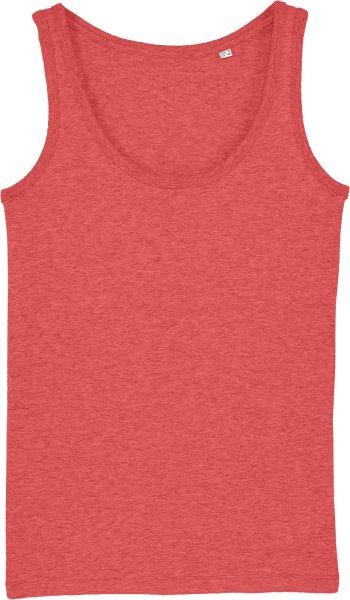Tank-Top aus Bio-Baumwolle - mid heather red