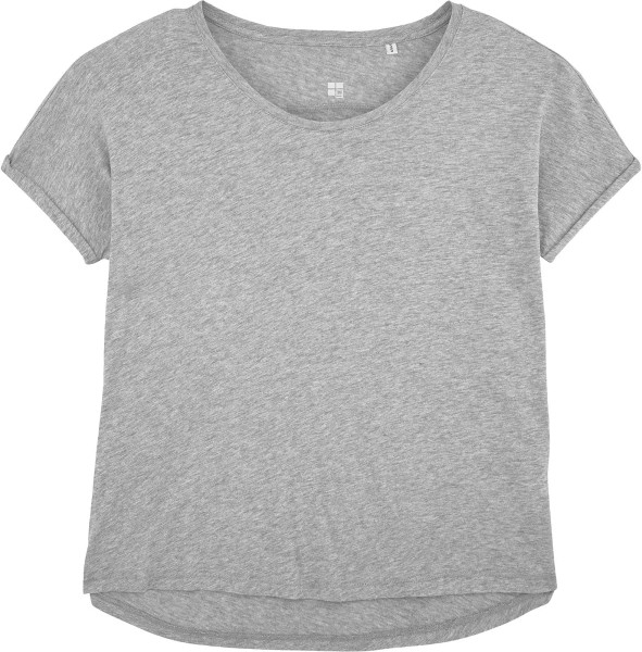Weites Slub T-Shirt aus Bio-Baumwolle - heather grey slub