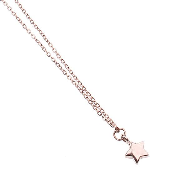 Kette mit Stern-Anhänger – rosé vergoldet