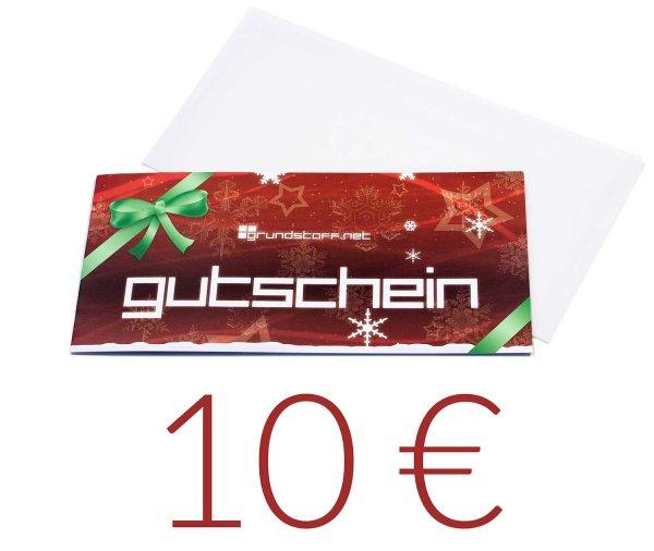 10,- EUR Geschenkgutschein - Weihnachtsdesign - Bild 1