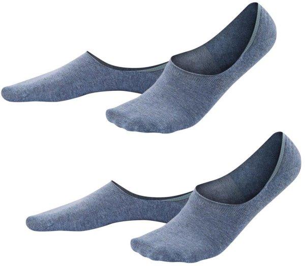 Herren Füßlinge aus Bio-Baumwolle - 2er-Pack - infinity blue