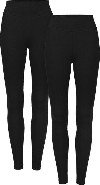 Leggings aus Bio-Baumwolle - Doppelpack - schwarz