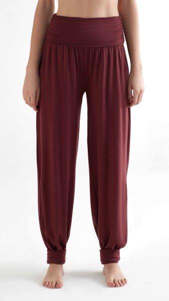 Yoga Pants aus Tencel - burgundy