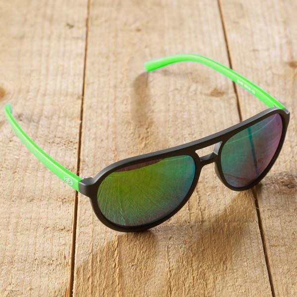Bologna - Sonnenbrille - schwarz-grün verspiegelt