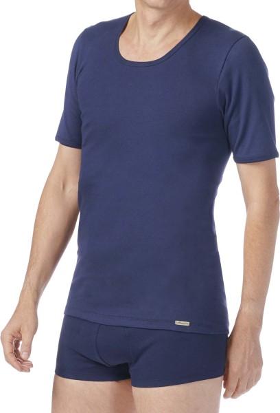 T-Shirt Bio-Baumwolle Feinripp marine 2-30-8269