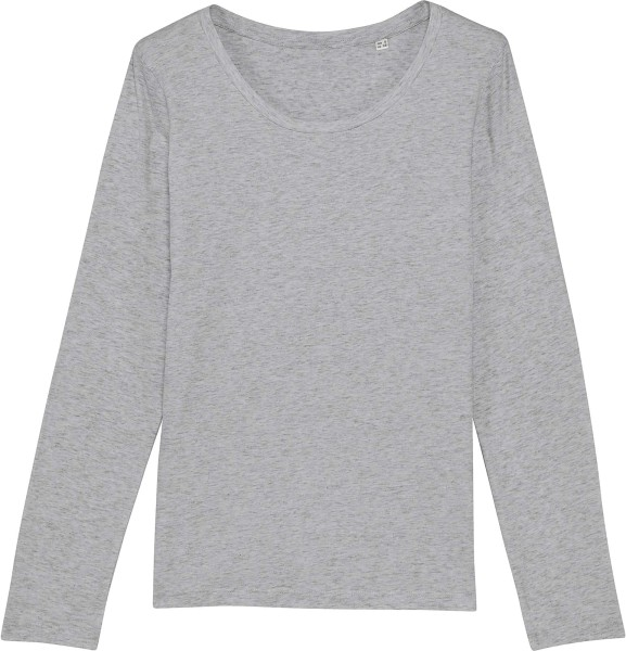 Longsleeve aus Bio-Baumwolle - heather grey