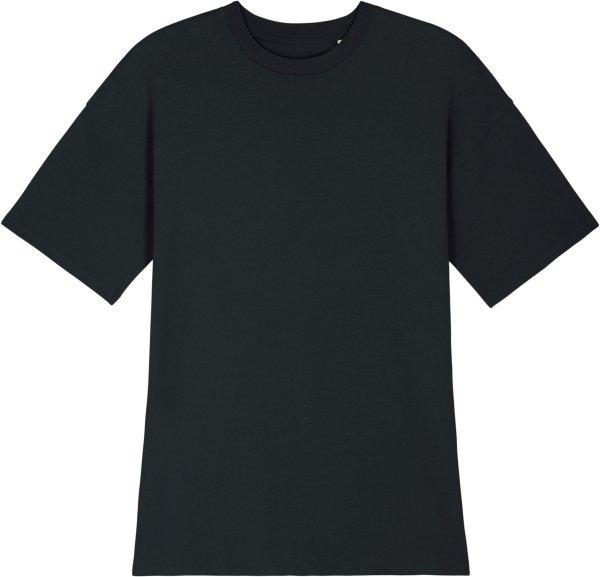 Oversized Jersey-Kleid aus Biobaumwolle - black