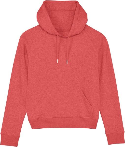 Raglan-Hoodie aus Bio-Baumwolle - mid heather red