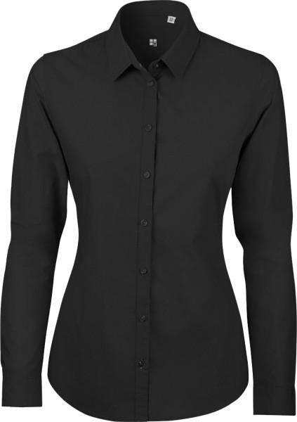 Bluse aus Biobaumwolle - schwarz