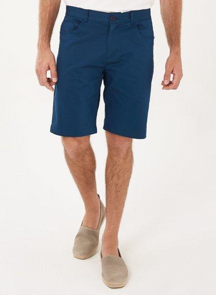 Tight Fit Shorts aus Bio-Baumwolle - navy