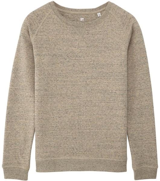 Sweatshirt Bio-Baumwolle - slub heather clay