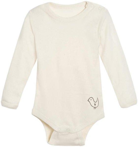 Baby Langarm-Body aus Bio-Baumwolle - natur - Bild 1