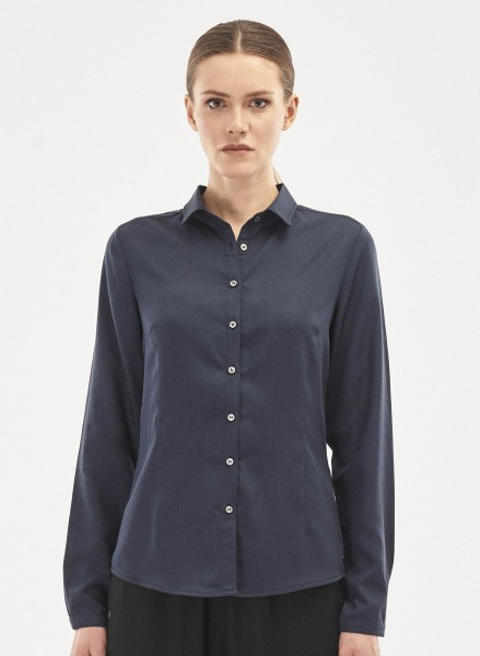 Bluse aus Tencel - navy