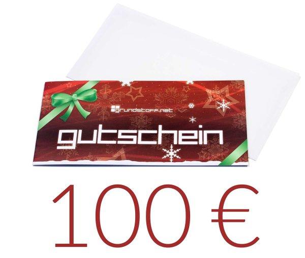 100,- EUR Geschenkgutschein - Weihnachtsdesign - Bild 1