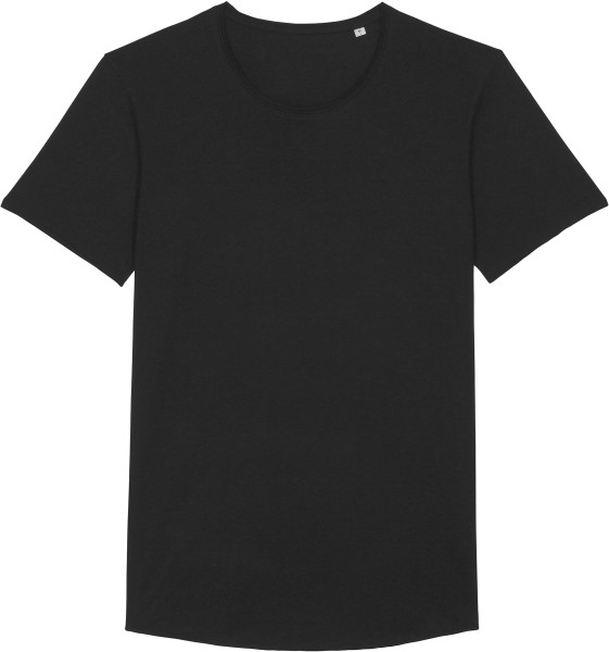 Long T-Shirt aus Bio-Baumwolle - black
