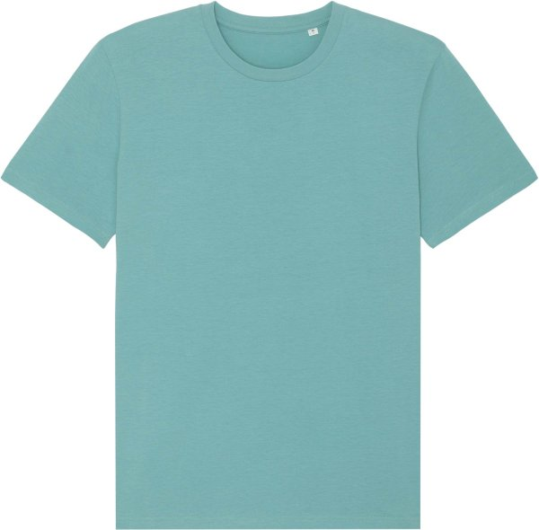 T-Shirt aus Bio-Baumwolle - teal monstera
