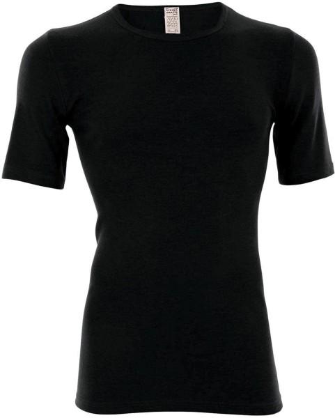 Kurzarm-Shirt - Wolle/Seide - schwarz - Bild 1