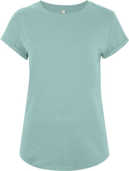 Organic Rolled Sleeve T-Shirt - slate green
