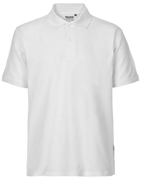Polo Shirt weiß faire Biobaumwolle - O20080